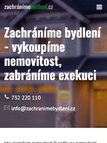 Zachráníme bydlení homepage webu